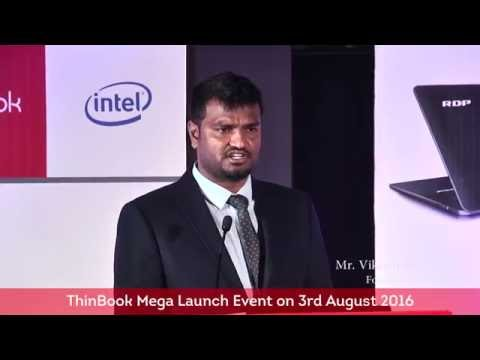 Mr Vikram Redlapalli Founder, CEO of RDP Keynote Speech at ThinBook Launch