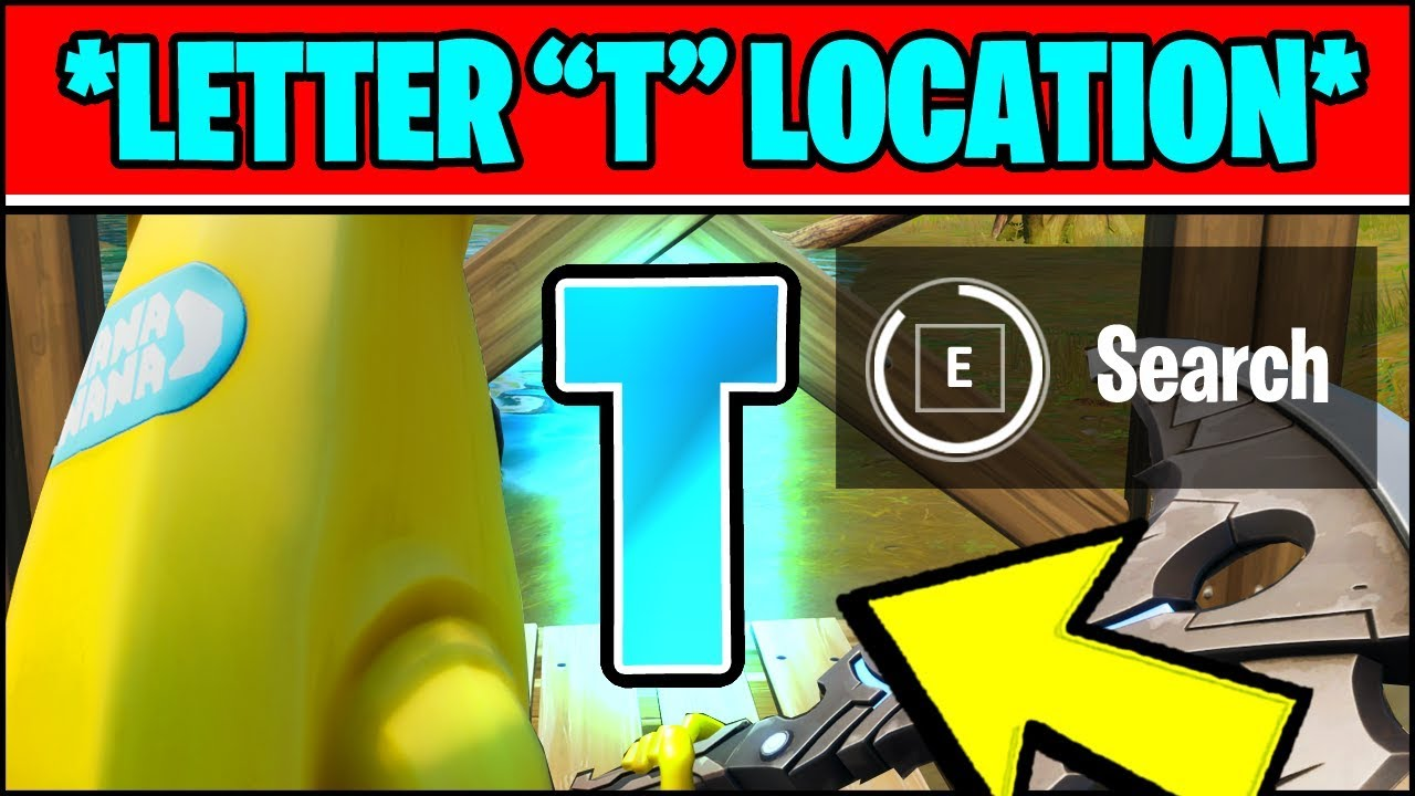 Fortnite T Location Search The Hidden T Found In The Trickshot Loading Screen Fortnite