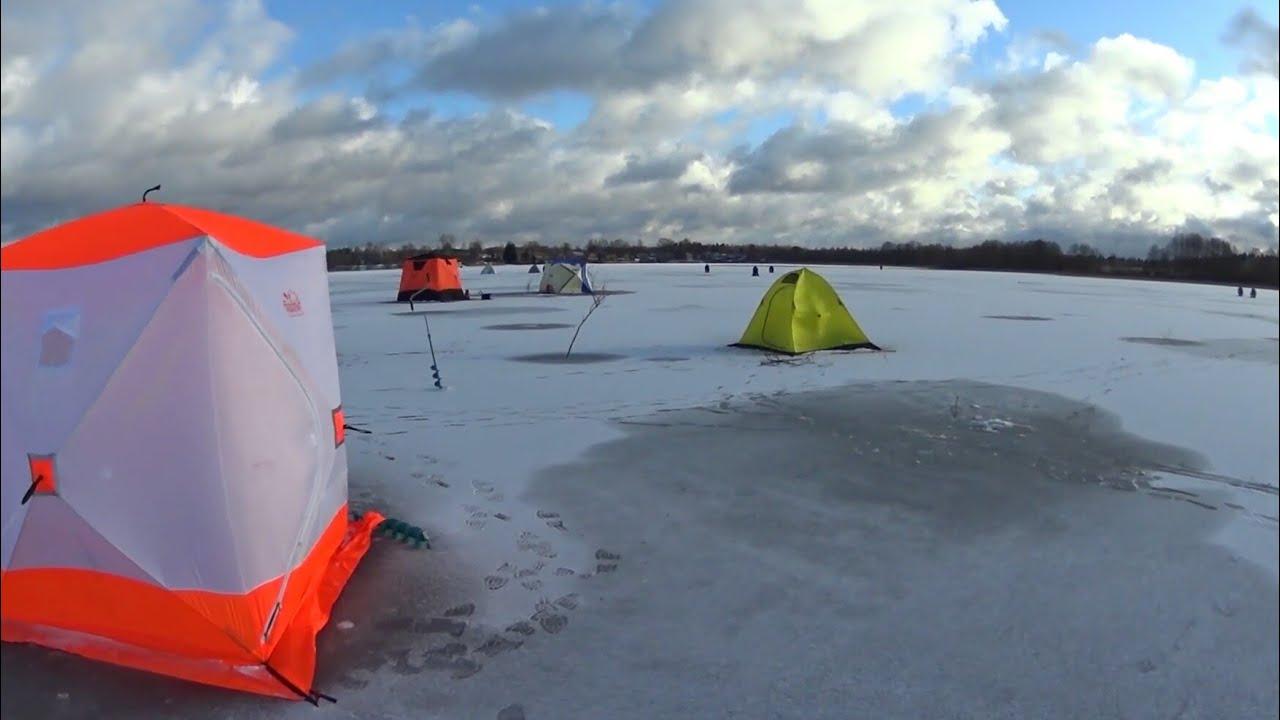 Зимняя рыбалка на сычевских карьерах