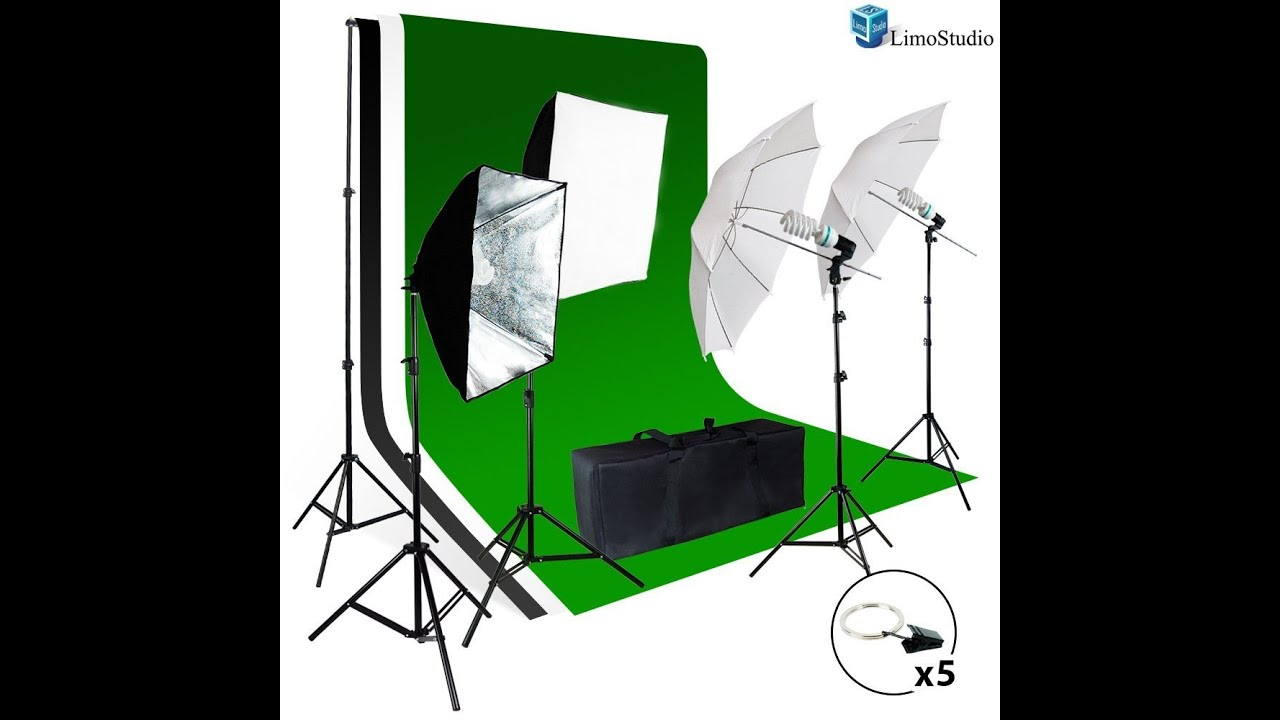 with lighting backdrop light stand kit photography studio muslin support