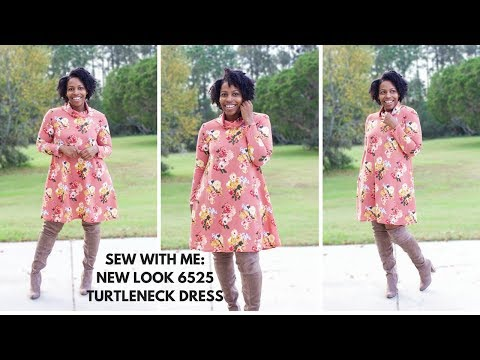 Sew With Me: New Look 6525 Turtleneck Dress