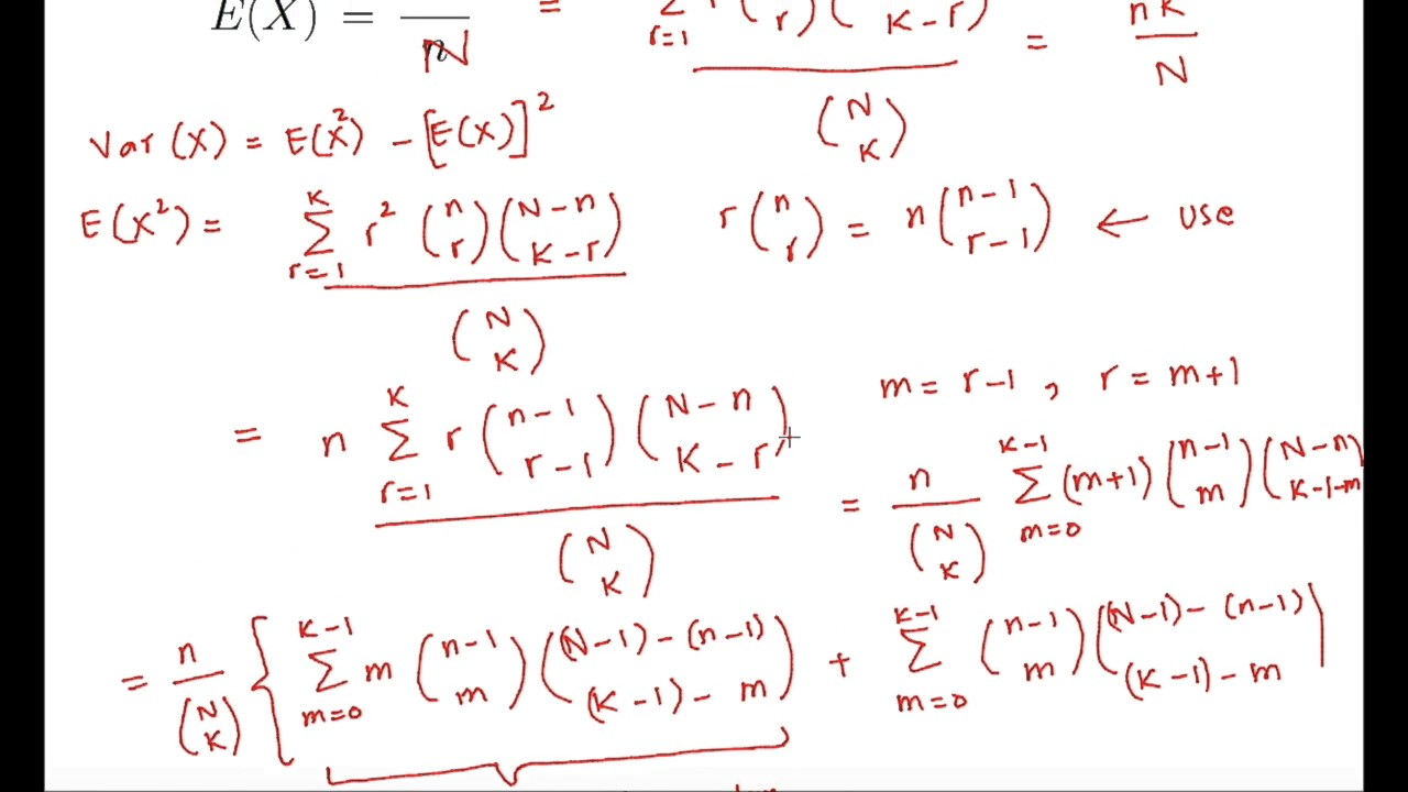 expectation of geometric distribution