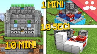 MINECRAFT WEAPONS: 10 Minutes, 1 Minute, 10 Seconds!