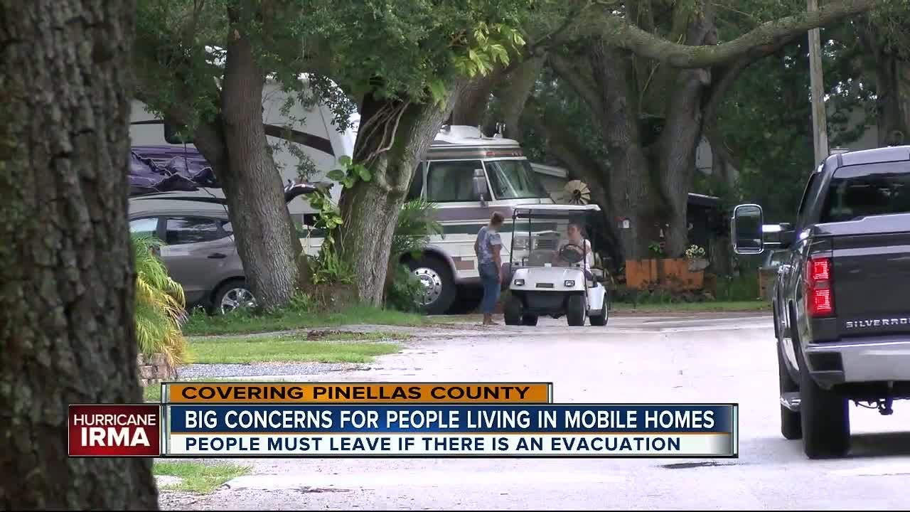 Pinellas Mobile Home RV Residents Worried About Irma