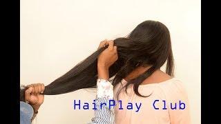 Seductive Long Hair Play