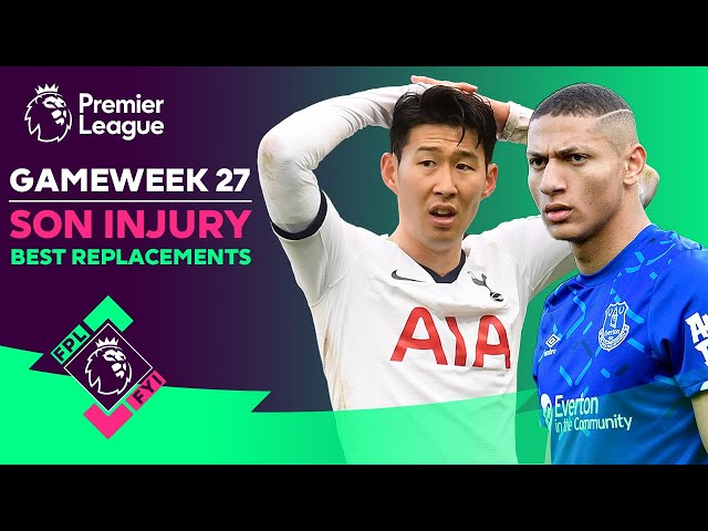 BEST Son Heung-min replacements? | Richarlison, Martial, Bruno Fernandes | FPL FYI GW27