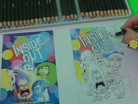 How To Basic - Color Disney Pixar Inside Out Poster with Joy Envy and Anger