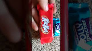 Opening bags of candy