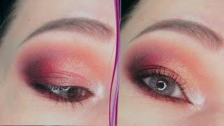 Сиреневый и золотой макияж глаз в стиле смоки айс Пошаговый урок