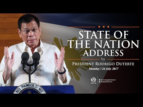 LIVE: 2017 State of the Nation Address by President Rodrigo Duterte