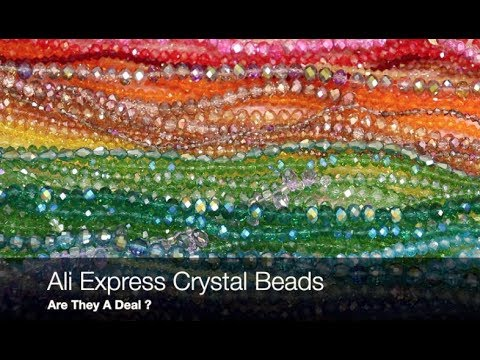 Ali Express Cut  Crystal Bead Haul good for polymer clay and beadwork ?