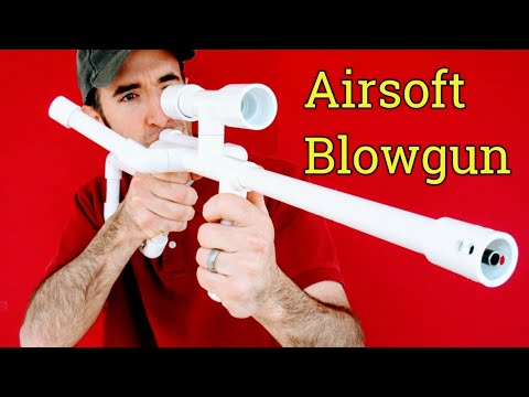 Airsoft Machine Gun Sniper Rifle DIY PVC Homemade Blowgun