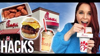 TRYING CHICK-FIL-A SECRET MENU HACKS
