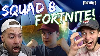 SQUAD 8 PLAYS FORTNITE! WATCH ME GET SOME W'S WITH KOOGS, SHELFY AND FRISK!
