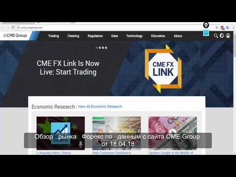 Обзор рынка Форекс по Данным с сайта CME Group от 18.04.18
