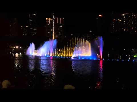 Petronas twin towers dancing fountain Kuala Lumpur