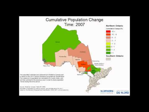 Population Change by Northern Ontario District 2001-2013
