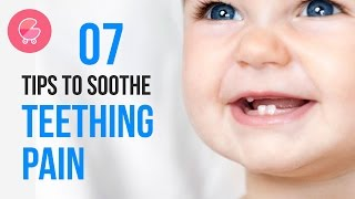 How to soothe crying baby from pain due teething process | 7 tips to relieve teething problems