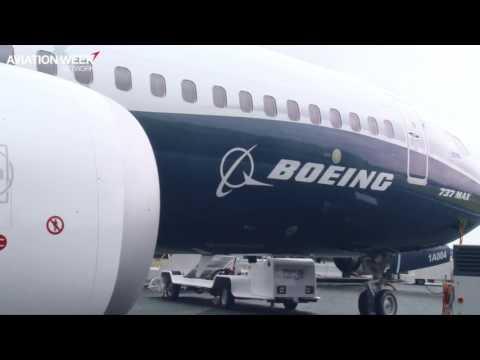 Boeing 737-8 MAX Showcased At Farnborough