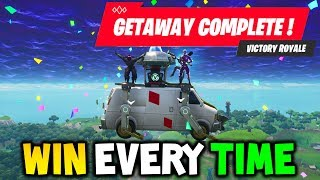 Fortnite: GETAWAY LTM CHEAT to WIN EVERY TIME! Challenge Guide (High Stakes Explained Tips & Tricks)