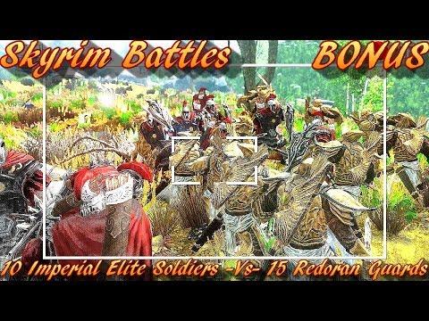 Skyrim Battles - BONUS - 10 Imperial Elite Soldiers vs 15 Redoran Guards [Legendary Settings]