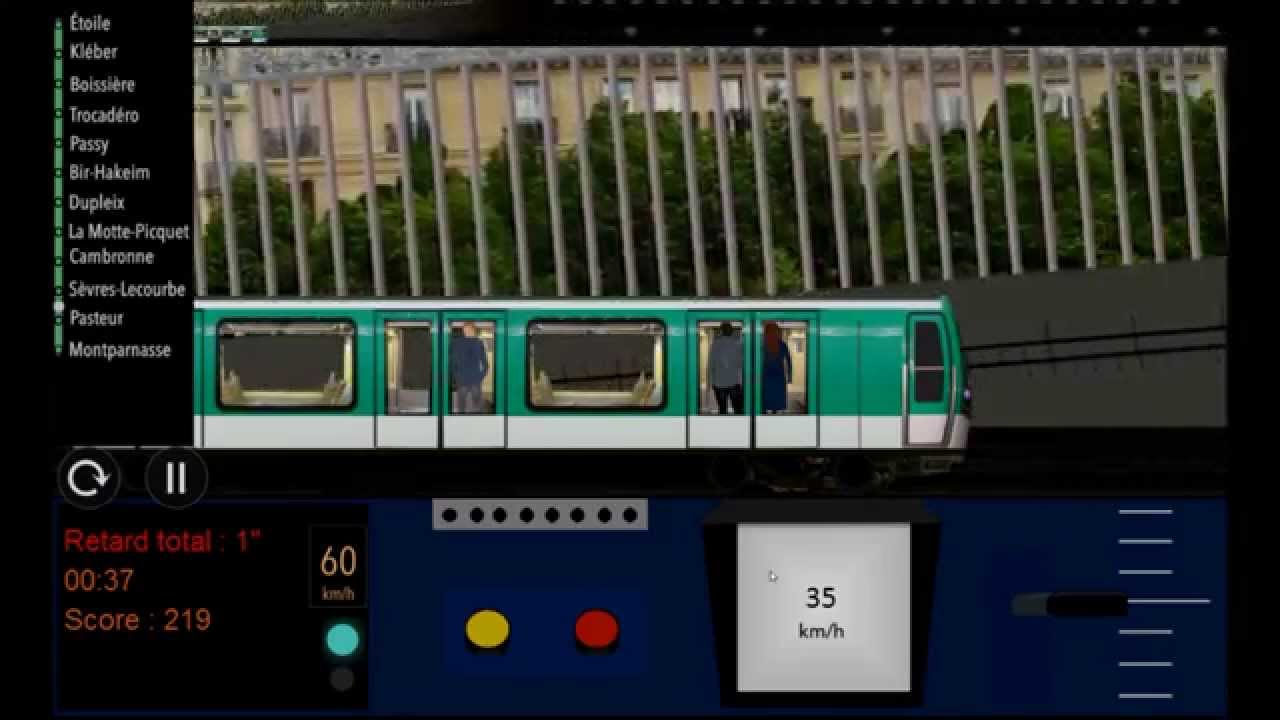 paris metro simulator ligne 6 youtube. Black Bedroom Furniture Sets. Home Design Ideas