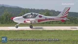 A step-by-step guide to getting pilot's license at NE China's flying school