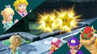 Super Mario Party Partner Party #645 Domino Ruins Treasure Hunt Rosalina & Peach vs Bowser & Waluigi