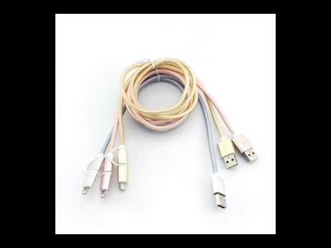 Shenzhen 2in1 Micro USB Cables Factory for Iphones/Android