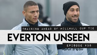 EVERTON UNSEEN #38: TRAINING AHEAD OF MILLWALL CUP TIE!