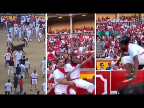 Woody and Wilcox - Check Out Josh Norman Jumping Over A Bull In Spain