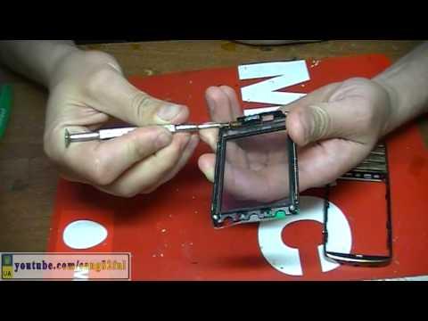 Ремонт Nokia Asha 300 разборка, замена сенсора