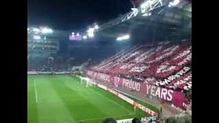 Olympiakos-Metalist Kharkiv 1-2, Europa League Knock out Stage, Gate 7 Coreo