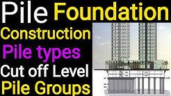 Pile Foundations| Construction Procedure || Group of Pile || Types of Piles|| Cut off Level
