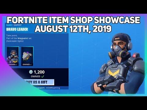 Fortnite Item Shop *NEW* BRAVO LEADER SKIN + PICKAXE! [August 12th, 2019] (Fortnite Battle Royale)