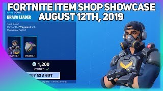 Fortnite Item Shop *NEW* BRAVO LEADER SKIN + PICKAXE! [August 12th, 2019] (Fortnite Battle Royale)
