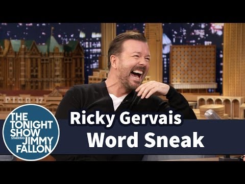 Gerbils, nip-slips and fanny packs – Ricky Gervais plays word games with Jimmy Fallon