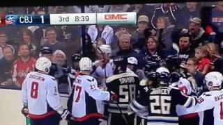 Ovechkin fight vs Columbus