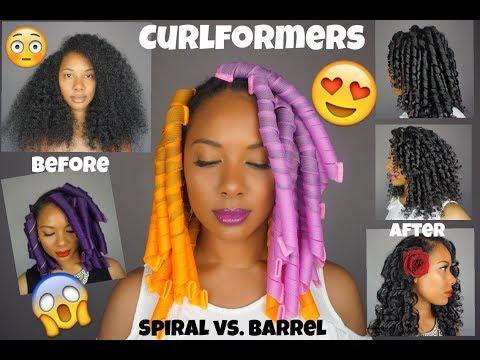 Easy Curlformers On Natural Hair L Spiral Curlformers Vs Barrel