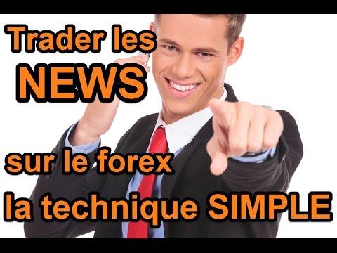 Trader les news sur le forex la technique simple - tutoriel