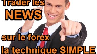 Trader les news sur le forex la technique simple - tutoriel