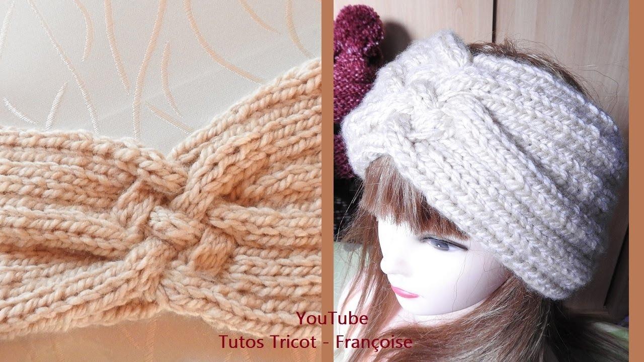 super cute hot sale online authentic Tuto tricot Headband Bandeau Femme Torsade Tresse Côtes 3/1 | Tricot Tour  de tête Femme