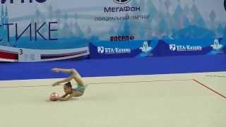 Матиевская Екатерина, мяч. Первенство России по гимнастике г.Казань 2014