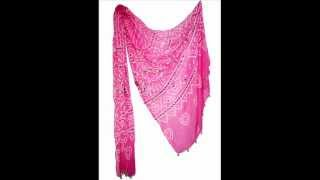 Indian traditional bollywood chunari cotton bandhej dupatta stole.wmv Thumbnail