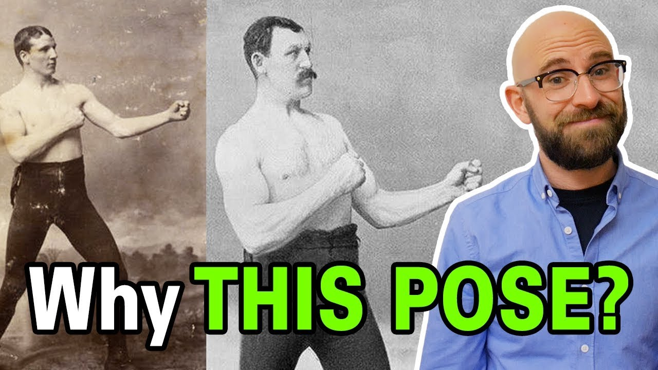 why-did-old-timey-boxers-all-pose-for-photos-with-the-same-silly-stance