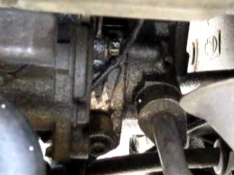 Mercedes ml430 oil leak, front of the engine driver side