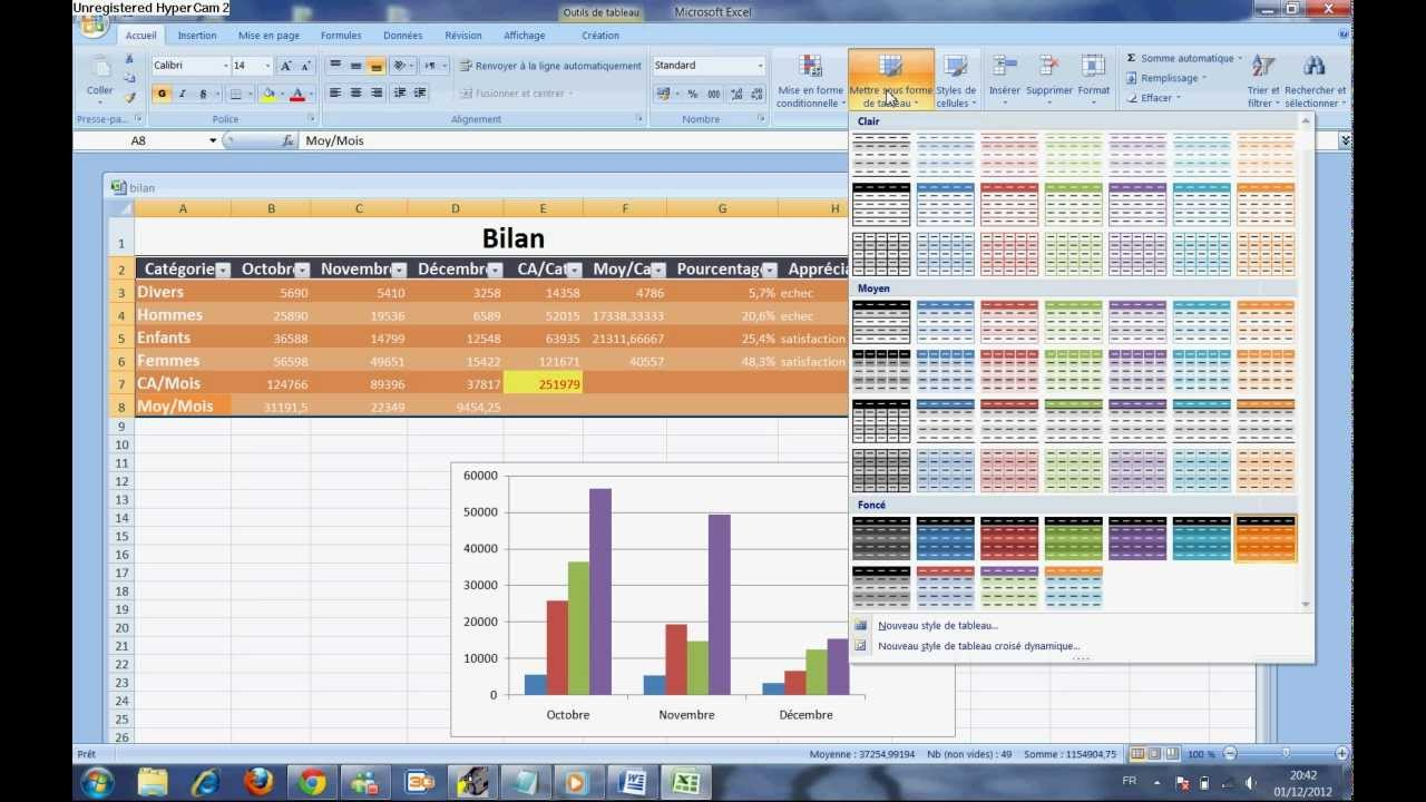comment utiliser l'excel 2007 - YouTube