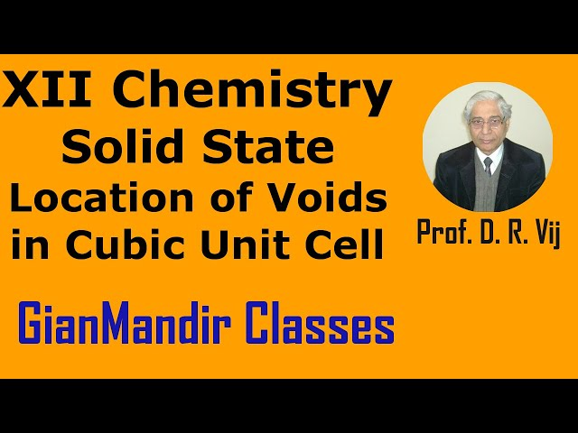 XII Chemistry | Solid State | Location of Voids in Cubic Unit Cell by Gaurav Sir