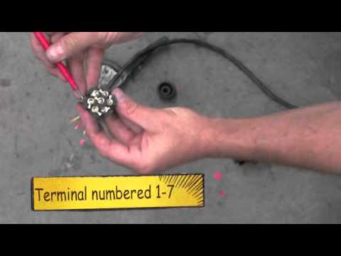 How to wire a Trailer Round / Flat Plug : Australia