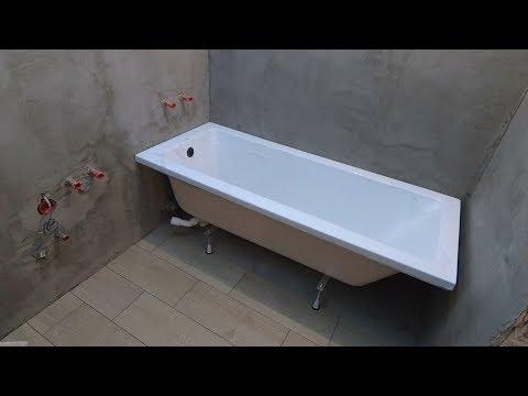 Как установить акриловую ванну своими руками? Надежная установка